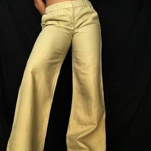 J. Crew tan city fit flare pants/slacks